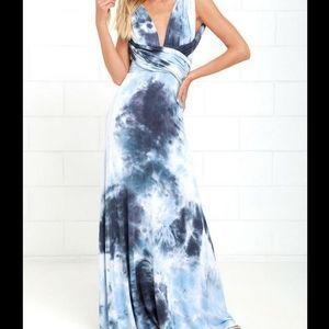 Lulu's maxi tie dye dress